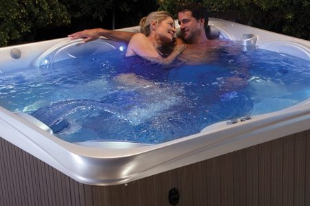 Hot tubs can be had with the blow-up equipment